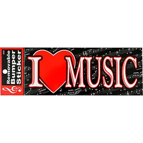 AIM I Heart Music Bumper Sticker