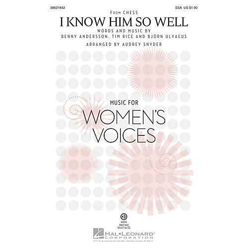 Hal Leonard I Know Him So Well (from Chess) ShowTrax CD Arranged by Audrey Snyder