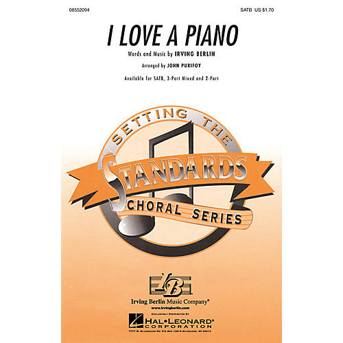 Hal Leonard I Love a Piano 3-Part Mixed Arranged by John Purifoy