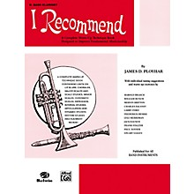 Alfred I Recommend B-Flat Bass Clarinet