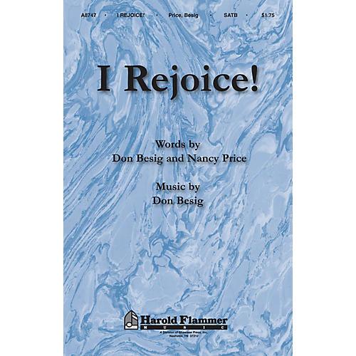 Shawnee Press I Rejoice! SATB composed by Don Besig