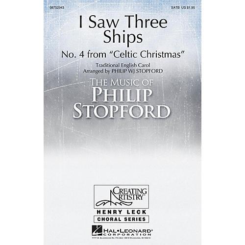 Hal Leonard I Saw Three Ships SATB a cappella arranged by Philip Stopford