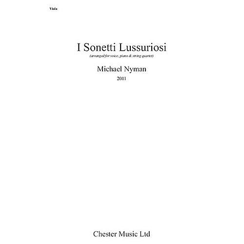 Hal Leonard I Sonnetti Lussuriori Music Sales America Series Softcover Composed by Michael Nyman