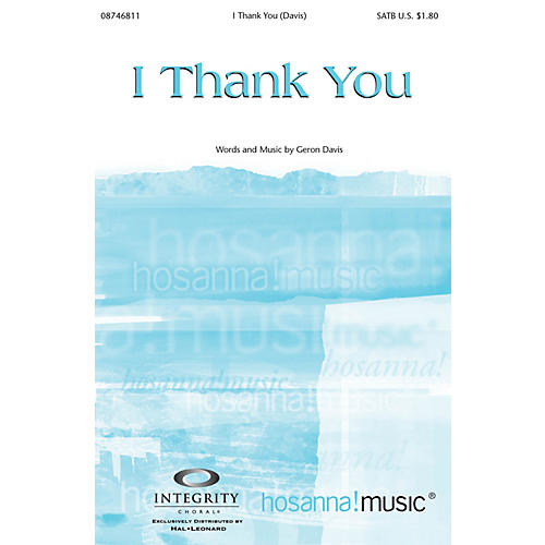 Integrity Music I Thank You CD ACCOMP Composed by Geron Davis
