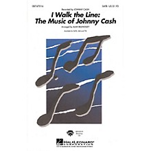 Hal Leonard I Walk the Line: The Music of Johnny Cash (Medley) SAB by Johnny Cash Arranged by Alan Billingsley