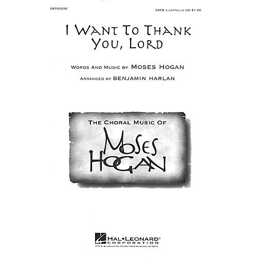 Hal Leonard I Want to Thank You, Lord SATB arranged by Benjamin Harlan
