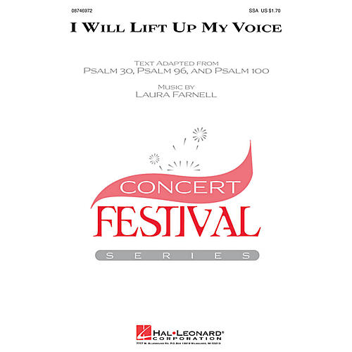 Hal Leonard I Will Lift Up My Voice SSA composed by Laura Farnell