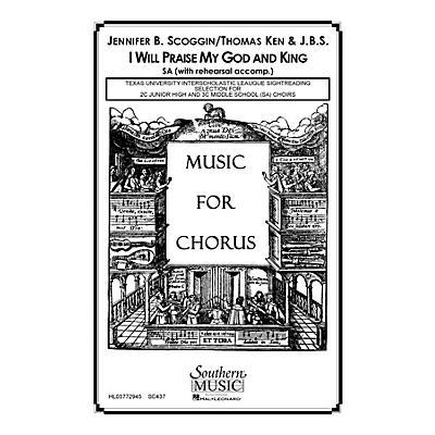 Hal Leonard I Will Praise My God And King (Choral Music/Octavo Sacred Sa) SA Composed by Scoggin, Jennifer