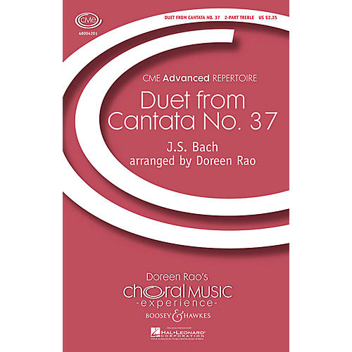 Boosey and Hawkes I Will Praise the Lord (Duet from Cantata No. 37) CME Advanced 2-Part by Bach arranged by Doreen Rao