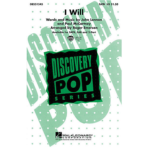Hal Leonard I Will SAB by The Beatles Arranged by Roger Emerson