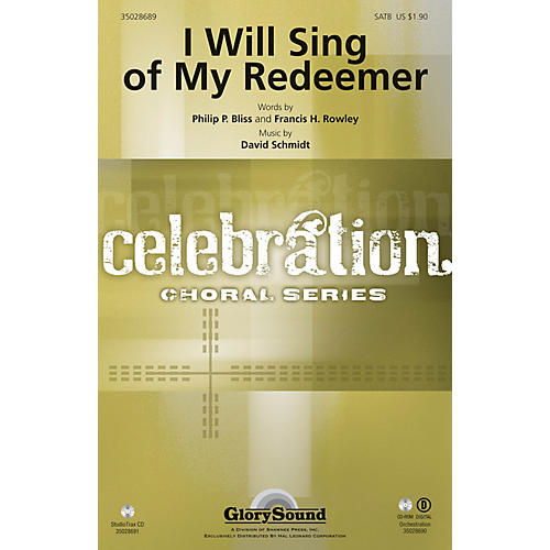 Shawnee Press I Will Sing of My Redeemer Studiotrax CD Composed by David Schmidt