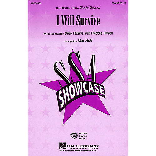 Hal Leonard I Will Survive SSA by Gloria Gaynor arranged by Mac Huff