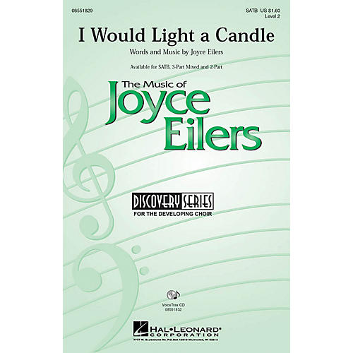 Hal Leonard I Would Light a Candle 3-Part Mixed Composed by Joyce Eilers