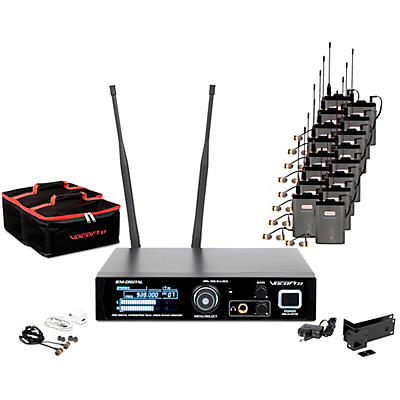 Vocopro IEM-Assist-16 Professional 24-bit Digital Stereo Wireless Assistive Listening System With 16 Receivers
