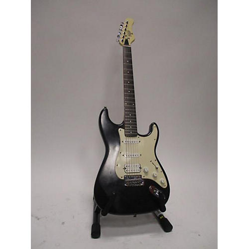 Hondo II Solid Body Electric Guitar Black