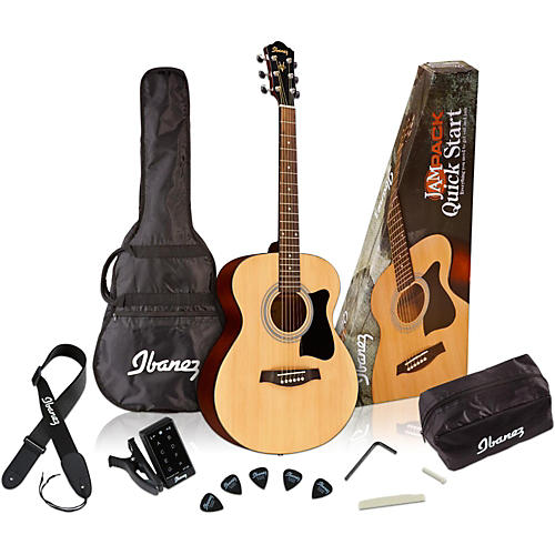 Ibanez IJVC50 Jampack Grand Concert Acoustic Guitar Pack