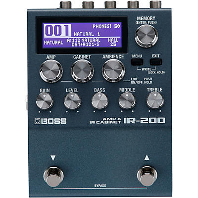 BOSS IR-200 Amp and Cabinet Processor Effects Pedal