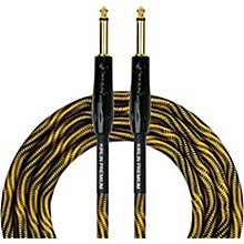 "KIRLIN IWB Black/Gold Woven Instrument Cable 1/4"" Straight"