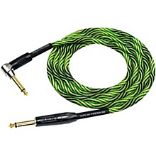 IWB Black/Green Woven Instrument Cable 1/4