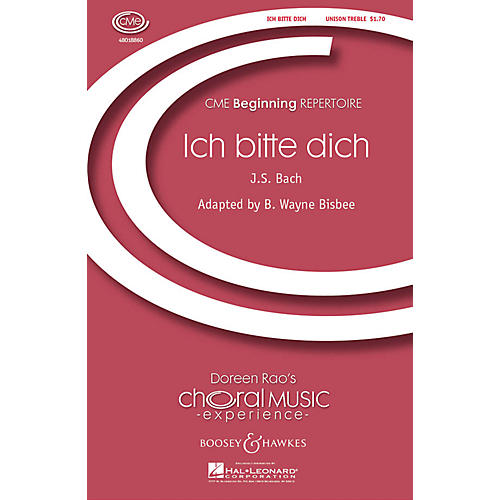 Boosey and Hawkes Ich Bitte Dich (Chorale from Cantata 166) CME Beginning UNIS composed by Bach arranged by B. Wayne Bisbee