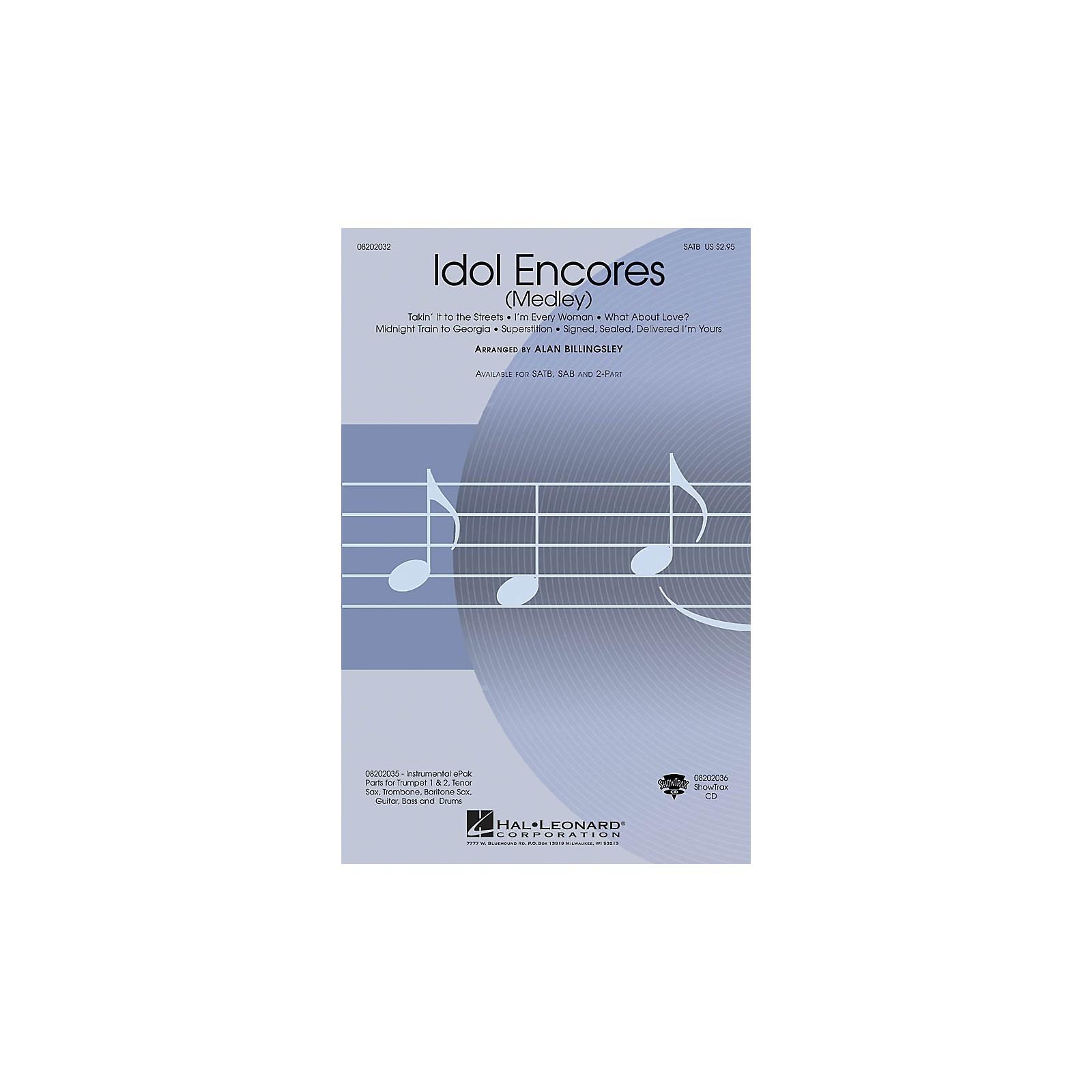Hal Leonard Idol Encores ShowTrax CD Arranged by Alan Billingsley