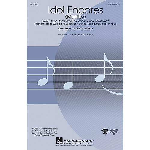 Hal Leonard Idol Encores ShowTrax CD Arranged by Alan Billingsley