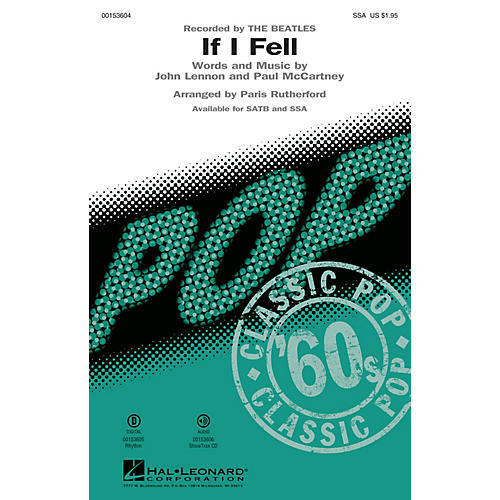Hal Leonard If I Fell SSA by The Beatles arranged by Paris Rutherford