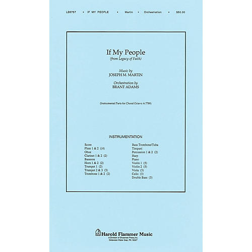 Shawnee Press If My People (from Legacy of Faith) Score & Parts composed by Joseph M. Martin
