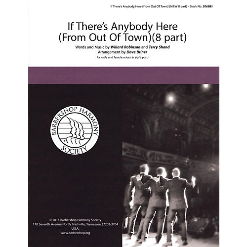 Hal Leonard If There's Anybody Here (from Out of Town) SATB a cappella arranged by David Briner
