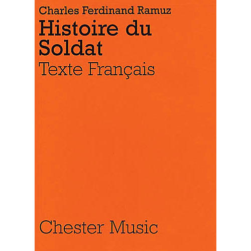 Music Sales Igor Stravinsky: Histoire Du Soldat (French Libretto) Music Sales America Series