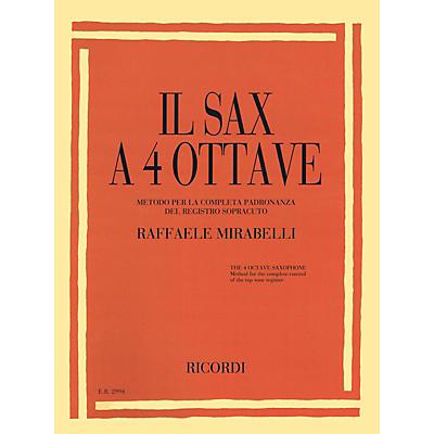 Ricordi Il Sax a 4 Ottave (The 4 Octave Sax) Woodwind Solo Series Book