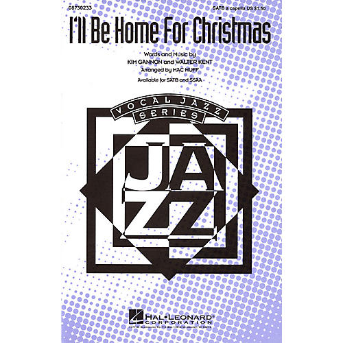 Hal Leonard I'll Be Home for Christmas SATB a cappella arranged by Mac Huff