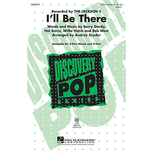 Hal Leonard I'll Be There 2-Part by Michael Jackson Arranged by Audrey Snyder