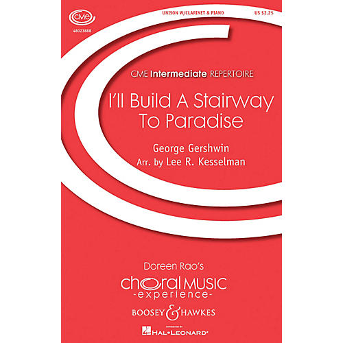 Boosey and Hawkes I'll Build a Stairway to Paradise UNIS composed by George Gershwin arranged by Lee R. Kesselman