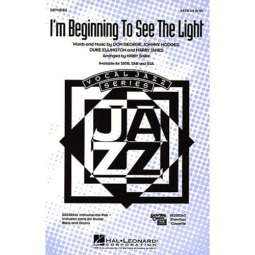 Hal Leonard I'm Beginning to See the Light SATB arranged by Kirby Shaw
