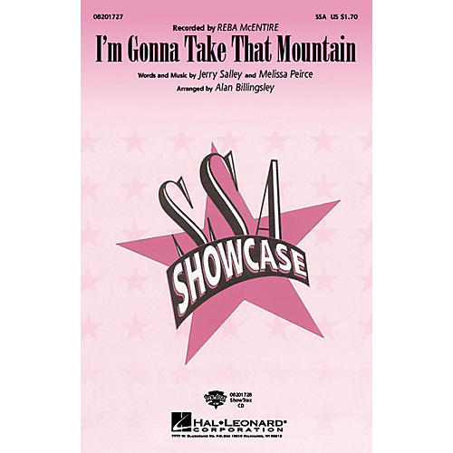 Hal Leonard I'm Gonna Take That Mountain ShowTrax CD by Reba McEntire Arranged by Alan Billingsley