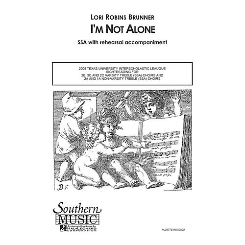 Hal Leonard I'm Not Alone (Choral Music/Octavo Sacred Ssa) SSA Composed by Brunner, Lori Robins