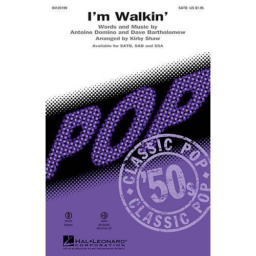 Hal Leonard I'm Walkin' SSA by Fats Domino Arranged by Kirby Shaw