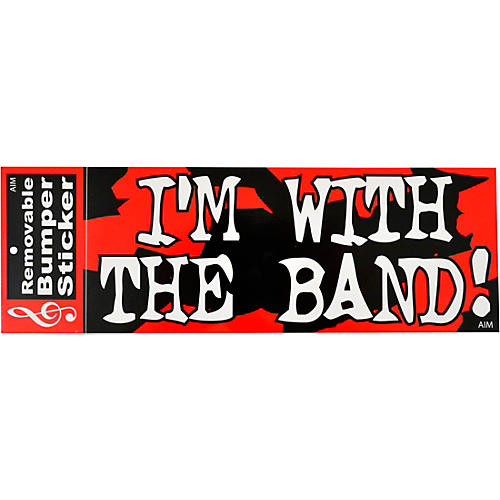 AIM I'm With The Band Bumper Sticker