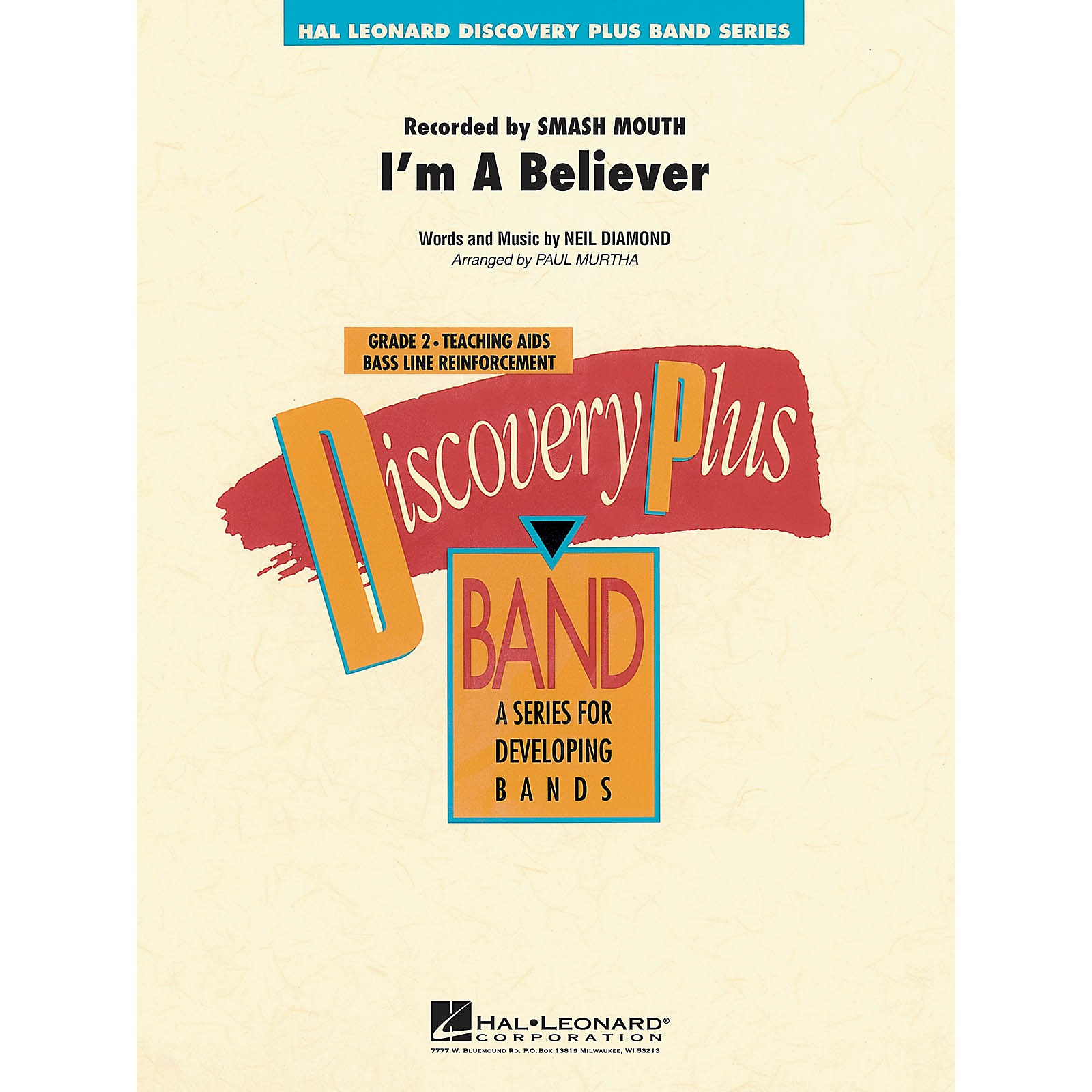 Hal Leonard I'm a Believer - Discovery Plus Concert Band Series Level 2 arranged by Paul Murtha