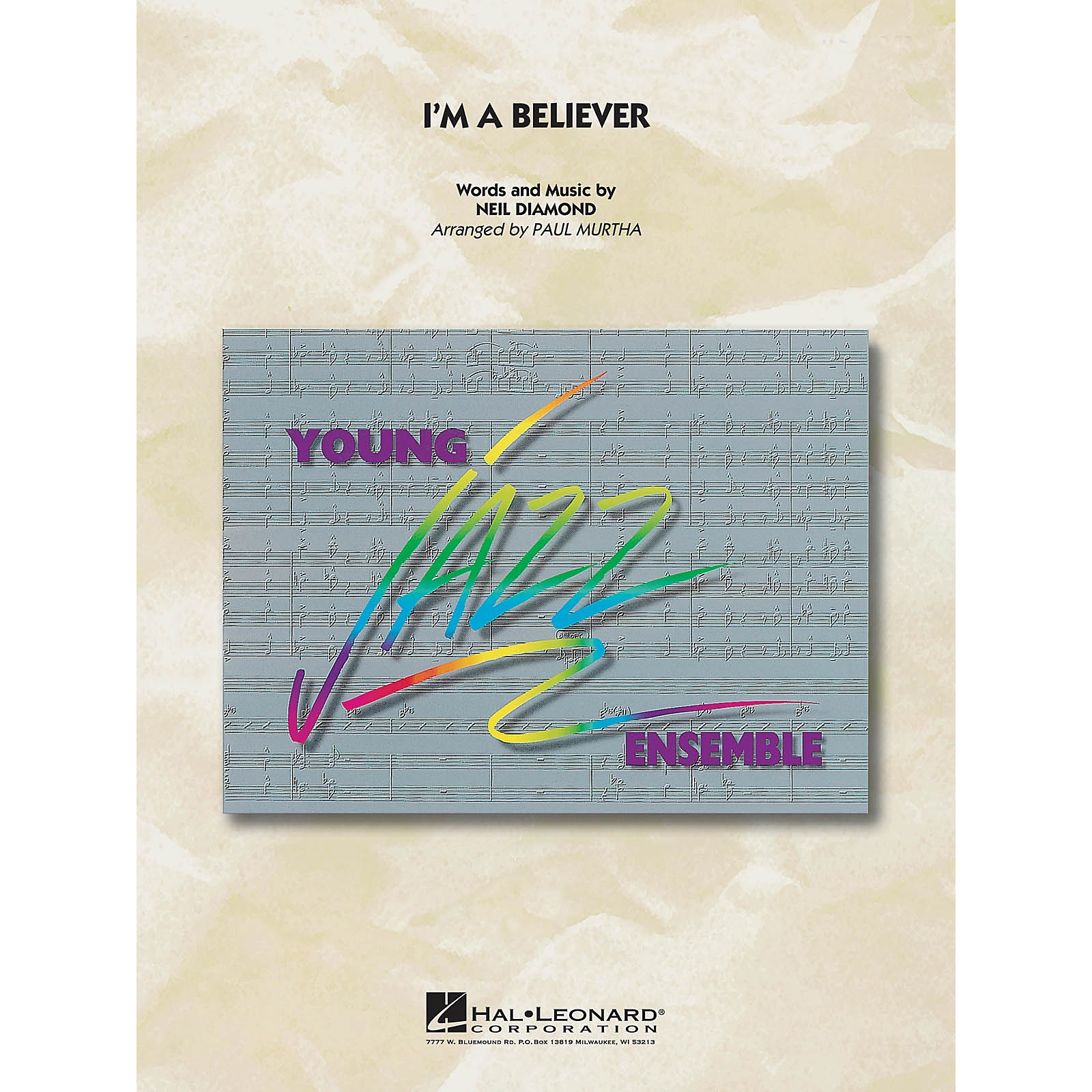 Hal Leonard I'm a Believer Jazz Band Level 3 by Smash Mouth Arranged by Paul Murtha