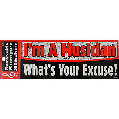 AIM I'm a Musician. What's Your Excuse? Bumper Sticker
