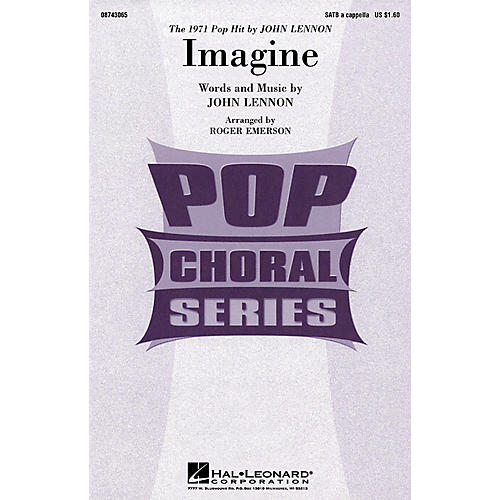 Hal Leonard Imagine SATB a cappella by John Lennon arranged by Roger Emerson