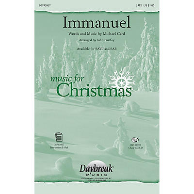 Daybreak Music Immanuel SAB by Michael Card Arranged by John Purifoy