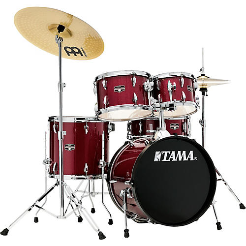 tama imperialstar 5 piece complete drum set with 18 in bass drum and meinl hcs cymbals candy. Black Bedroom Furniture Sets. Home Design Ideas