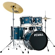 Imperialstar 5-Piece Complete Drum Set with 18 in. Bass Drum and Meinl HCS Cymbals Hairline Light Blue
