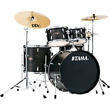 Imperialstar 5-Piece Complete Drum Set with 22 in. Bass Drum and Meinl HCS Cymbals Black Oak Wrap