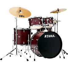 Imperialstar 5-Piece Complete Drum Set with 22 in. Bass Drum and Meinl HCS Cymbals Burgundy Walnut Wrap