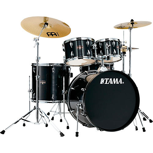 tama imperialstar 5 piece complete drum set with 22 in bass drum and meinl hcs cymbals hairline. Black Bedroom Furniture Sets. Home Design Ideas
