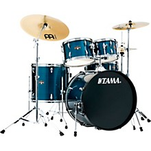 Imperialstar 5-Piece Complete Drum Set with 22 in. Bass Drum and Meinl HCS Cymbals Hairline Light Blue